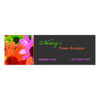 Floral ii pack of skinny business cards