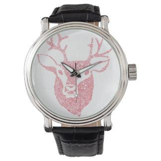 Floral Illustrated Deer Head Watch
