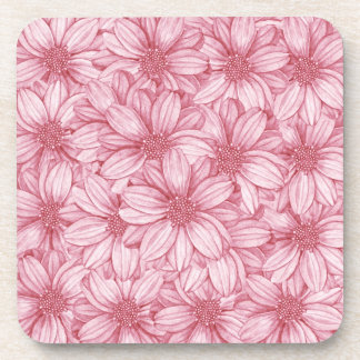 Floral Illustrative Print Beverage Coasters