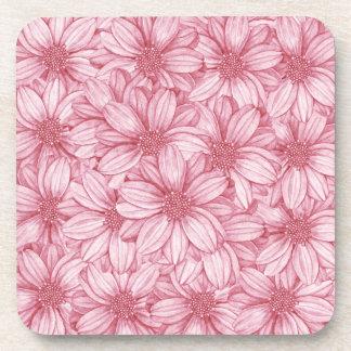 Floral Illustrative Print Drink Coasters