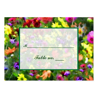 Floral Impressions Escort Card Pack Of Chubby Business Cards