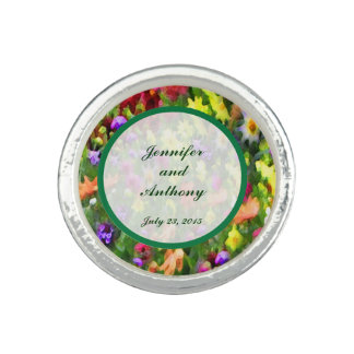 Floral Impressions Wedding Ring