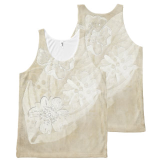 Floral Imprint All-Over Print Tank Top