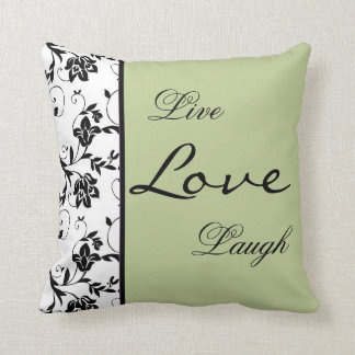 Floral in Green American MoJo Pillow
