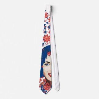 Floral Ink Lady Tie