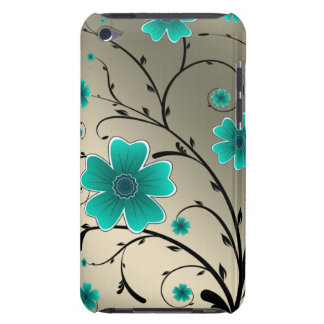 floral ivory aqua iPod touch case
