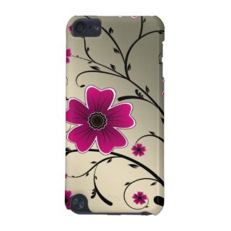 floral ivory Pink iPod Touch (5th Generation) Cases
