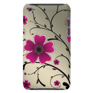 floral ivory Pink iPod Case-Mate Cases
