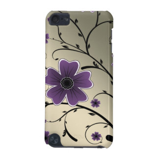 floral ivory purple iPod touch (5th generation) case