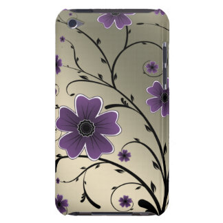 floral ivory purple barely there iPod case
