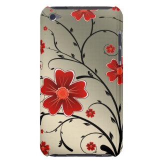 floral ivory red barely there iPod cases