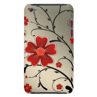 floral ivory red iPod touch cases