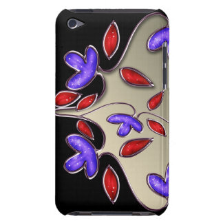 floral ivory red iPod Case-Mate case