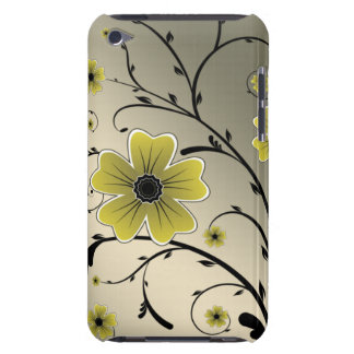 floral ivory yellow barely there iPod covers