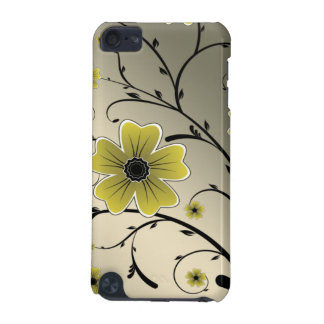 floral ivory yellow iPod touch 5G case