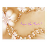 Floral Jewel, Save the Date! Post Card