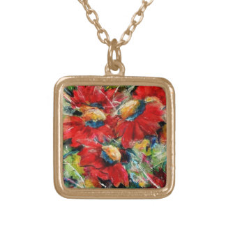 Floral Joining Gold Plated Necklace