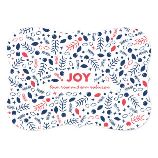 Floral Joy Patterned Holiday Card