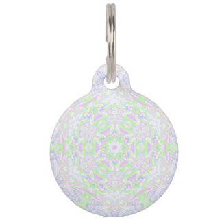 Floral Kaleidoscope 2 Pet Tag