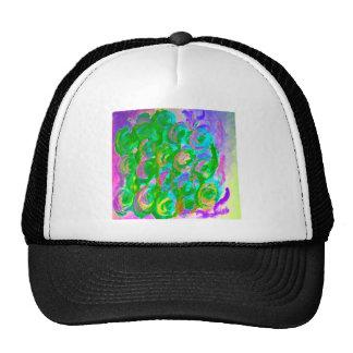 Floral kaleidoscope design image hats