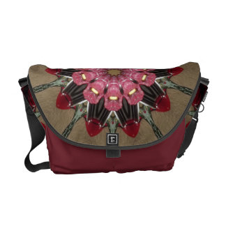 Floral Kaleidoscope Messenger Bag