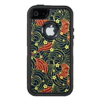 Floral Kimono Pattern in Night Colors OtterBox Defender iPhone Case