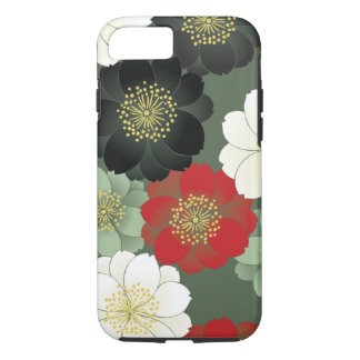 Floral Kimono Pattern Japanese Fine Art iPhone 8/7 Case