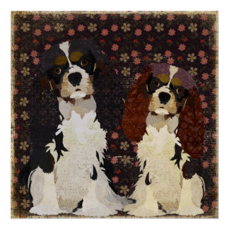 Floral King Cavaliers Perfect Poster
