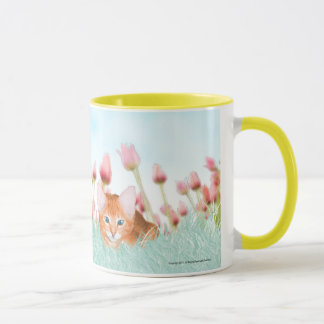 Floral Kitten Coffee Mug