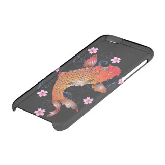 Floral koi carp clear iPhone 6/6S case
