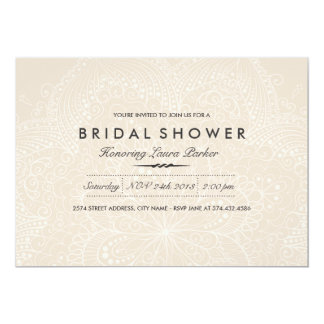 Floral Lace | Cream Bridal Shower Invitation