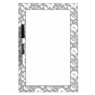 Floral Lace Pattern Dry Erase Board