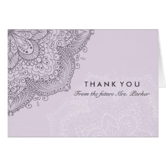 Floral Lace | Purple Thank You Card