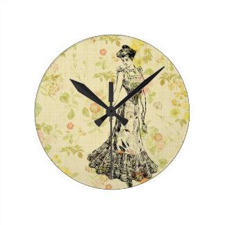 Floral Lady Clocks