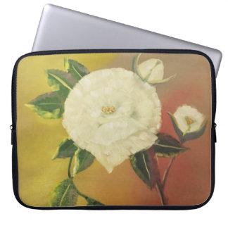 floral laptop sleeve, summer buds, original art laptop sleeve