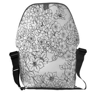 floral Large Messenger Bag Outside Print