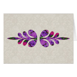 Floral Leaf Motif Note Card