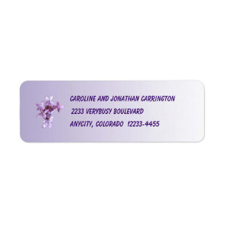 Floral Lilac Flowers Return Address Label