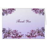 Floral Lilac Flowers Wedding Thank You Note Card