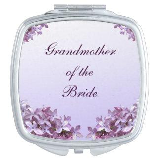 Floral Lilac Wedding Grandmother of Bride Mirror