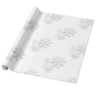 Floral Linen Wrapping Paper