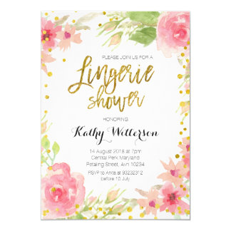 Floral Lingerie Shower Invitation