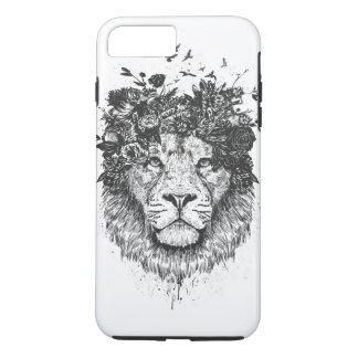 Floral lion (blackandwhite) iPhone 8 plus/7 plus case