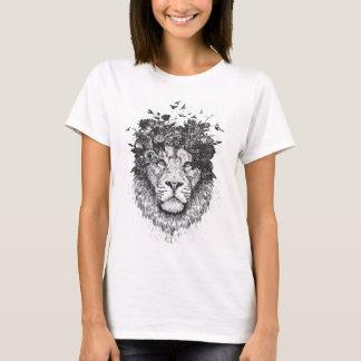 Floral lion (blackandwhite) T-Shirt
