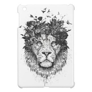 Floral lion iPad mini cases