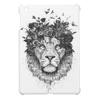 Floral lion iPad mini cover