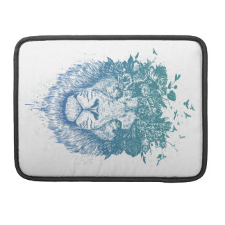 Floral lion sleeve for MacBook pro