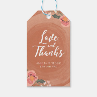 Floral Love and Thanks Wood Rustic Wedding