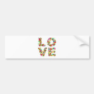 floral love bumper sticker