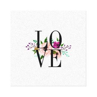 Floral LOVE Canvas Art